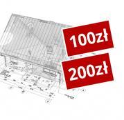 100 + 200 zł rabatu na projekt domu