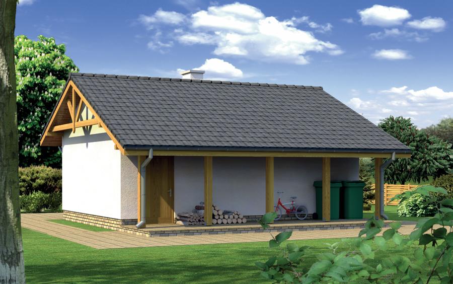 Projekt Garażu G25b Garaż Z Pomieszczeniem Gospodarczym I Kotłownią