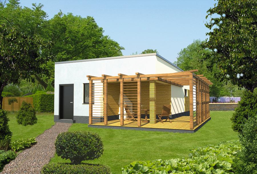 Projekt Garażu Gc69 Garaż Z Kotłownią I Wiatą Rekreacyjną Murator