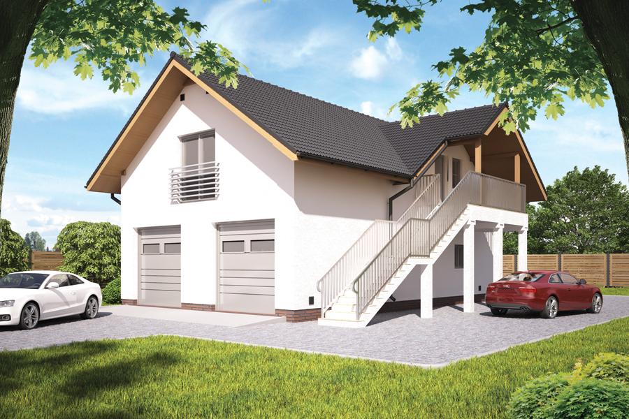 Garaże Z Częścią Mieszkalną Lub Poddaszem Murator Projekty