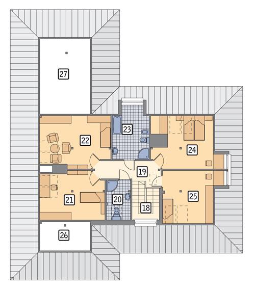 RZUT PODDASZA POW. 107,6 m²