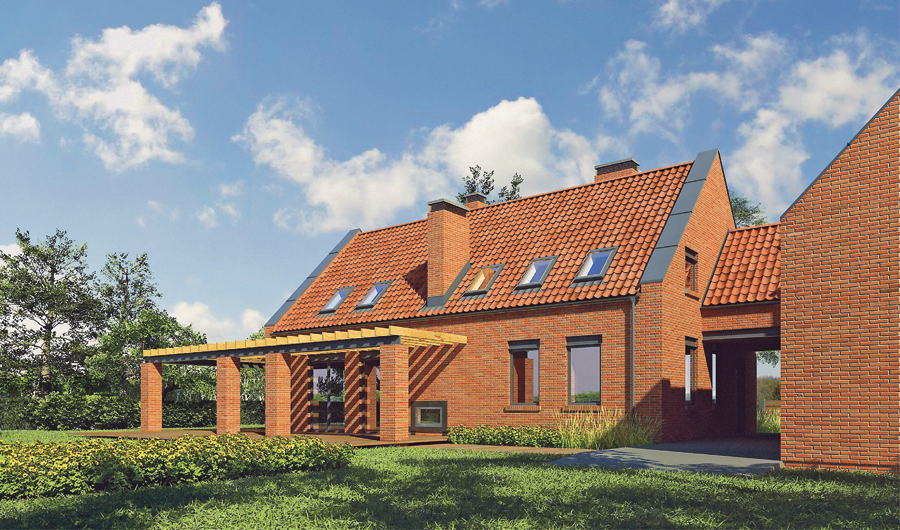 projekt domu m124a dom nad jeziorem wariant i murator projekty. Black Bedroom Furniture Sets. Home Design Ideas