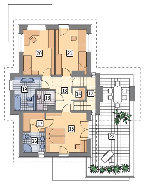 RZUT PIĘTRA POW. 108,5 m²