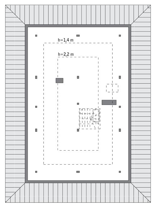 RZUT PODDASZA: Do indywidualnej adaptacji (58,1 m2 powierzchni użytkowej)