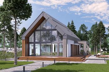 Dom z klimatem - wariant I (z wentylacją mechaniczną i rekuperacją)