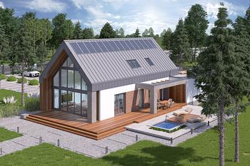 Dom z klimatem - wariant II (aranżacja 1) (z wentylacją mechaniczną i rekuperacją)