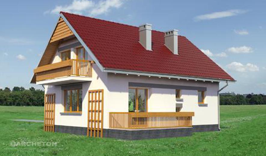 AN957 Calineczka (murowana - beton komórkowy)
