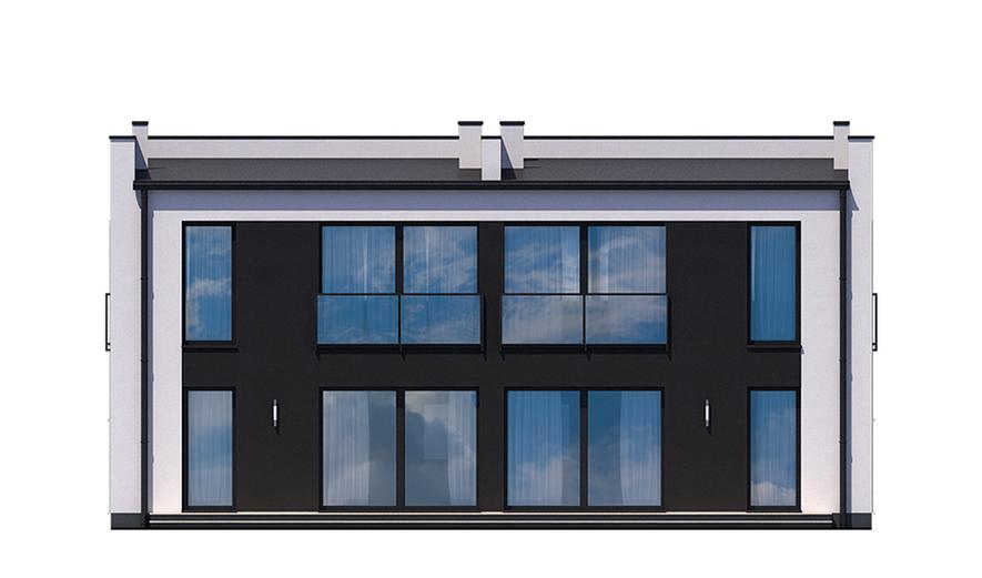 Ka12 Projekt domu Ka12 (dwulokalowy / bliźniak)