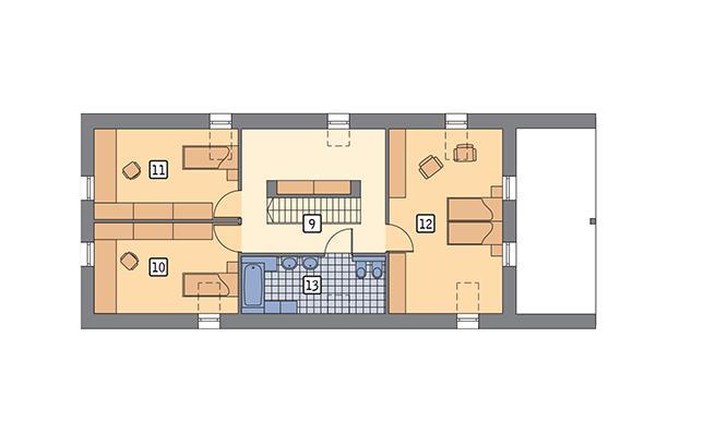 Rzut poddasza POW. 94,9 m²