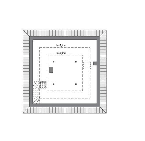 Rzut poddasza: do indywidualnej adaptacji (30,1 m2 powierzchni użytkowej)