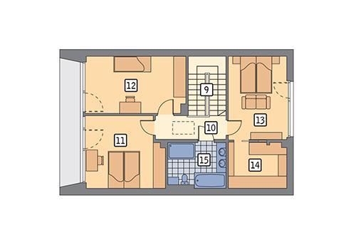 Rzut poddasza POW. 66,8 m²