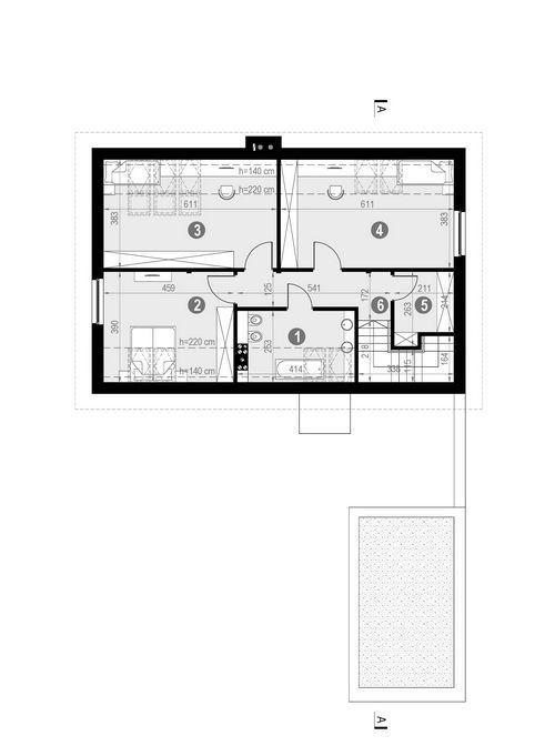 Rzut poddasza POW. 90,2 m²