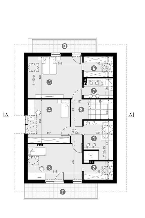 Rzut poddasza POW. 133,9 m²