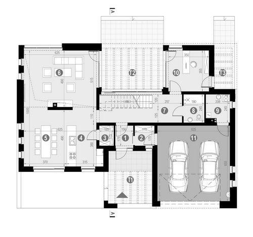 Rzut parteru POW. 147,9 m²