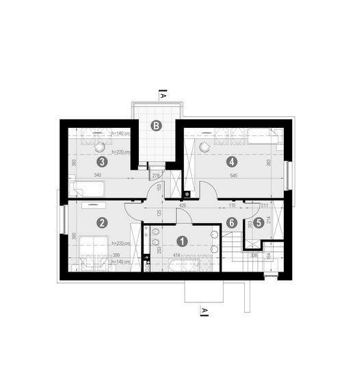 Rzut poddasza POW. 78,8 m²