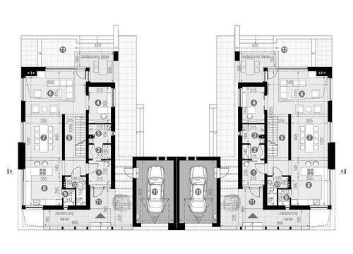 Rzut parteru POW. 112,9 m²