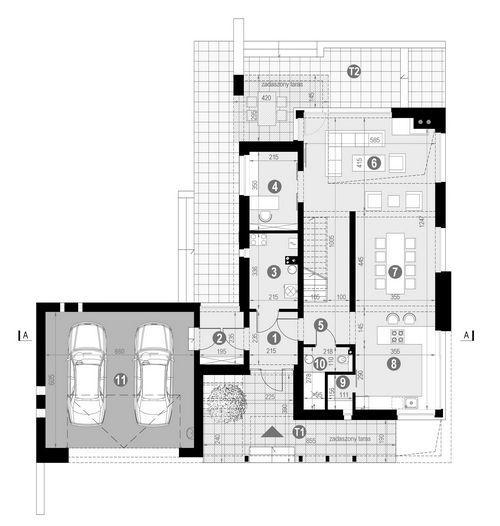 Rzut parteru:    POW. 137,2 m²
