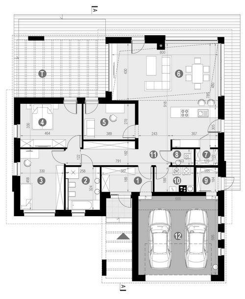 Rzut parteru POW. 172,3 m²