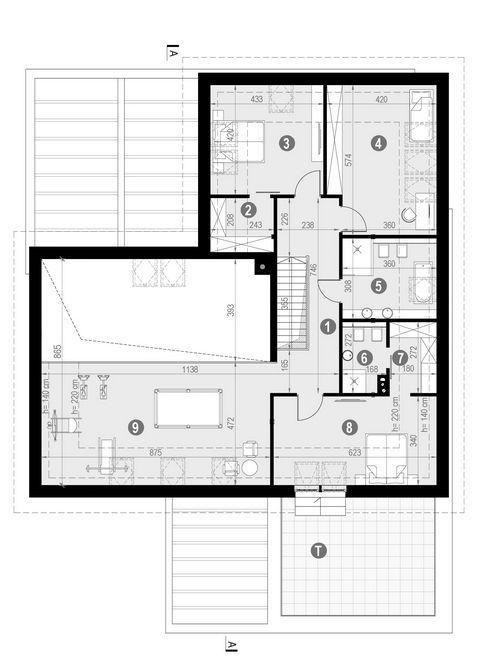 Rzut poddasza POW. 170,7 m²