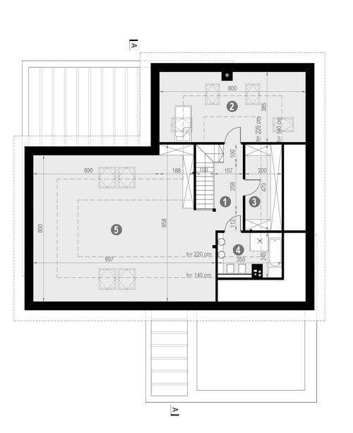 Rzut poddasza POW. 134,8 m²