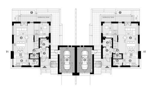 Rzut parteru POW. 93,9 m²