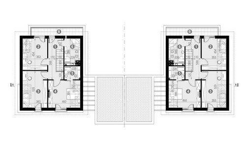 Rzut poddasza POW. 85,6 m²