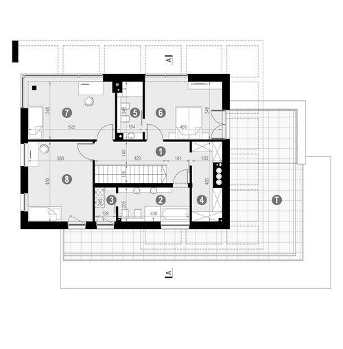 Rzut piętra POW. 146,0 m²