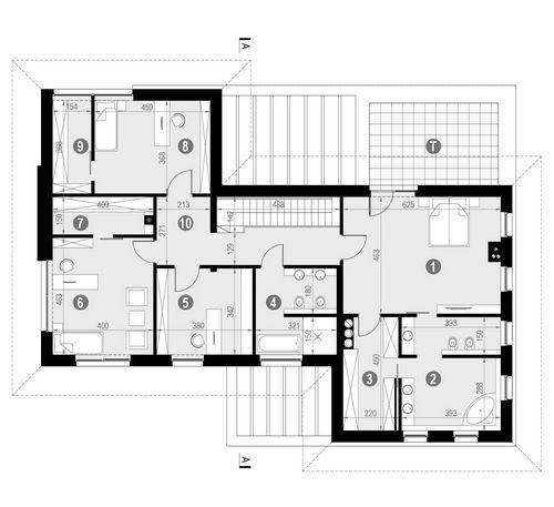 Rzut piętra POW. 158,5 m²
