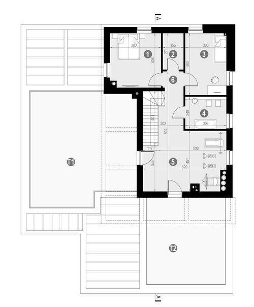 Rzut piętra POW. 177,3 m²
