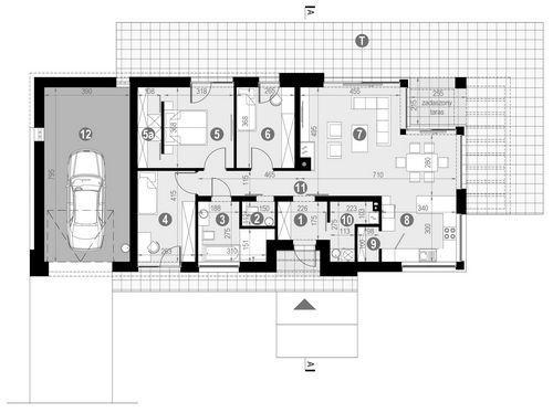 Rzut parteru POW. 130,8 m²