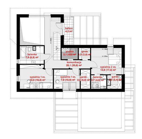 Rzut poddasza POW. 97,2 m²