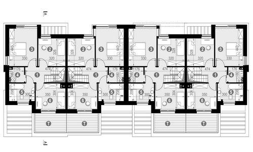 Rzut piętra POW. 61,6 m²