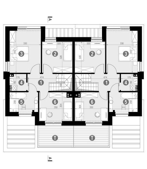 Rzut piętra POW. 60,2 m²