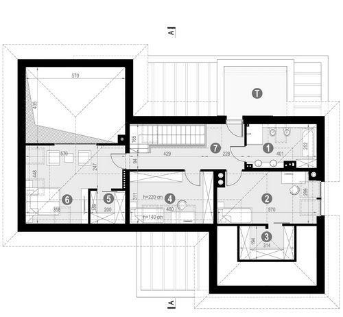 Rzut poddasza POW. 95,4 m²