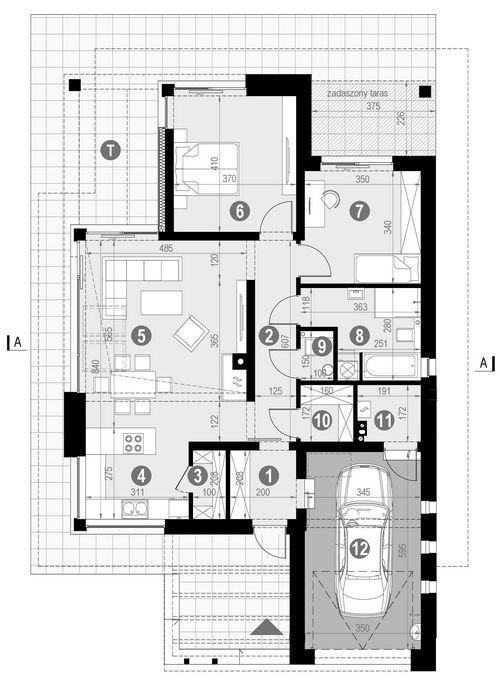 Rzut parteru POW. 114,5 m²