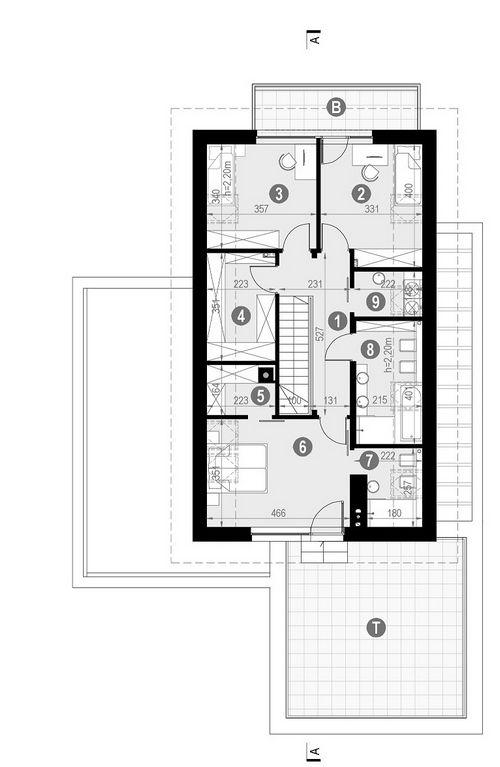 Rzut poddasza POW. 120,6 m²