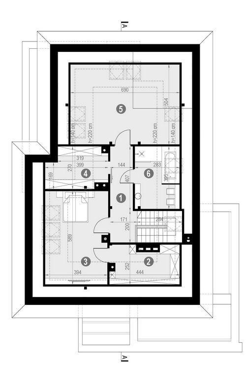 Rzut poddasza POW. 100,7 m²