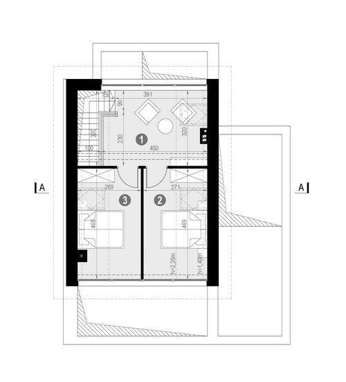 Rzut poddasza POW. 41,2 m²