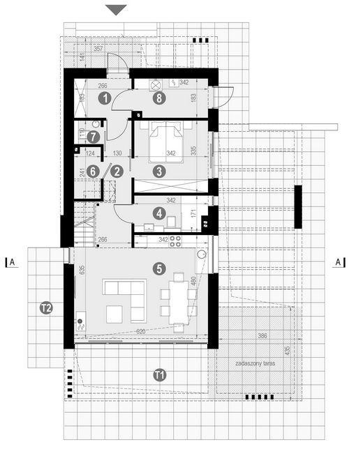 Rzut parteru POW. 70,0 m²