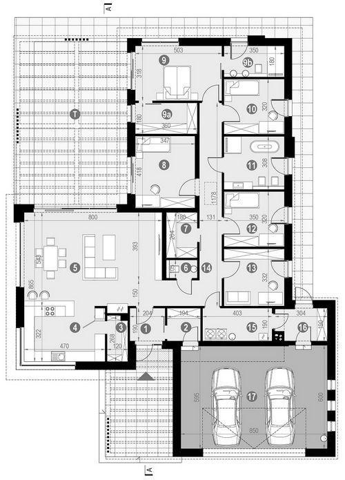 Rzut parteru POW. 246,2 m²