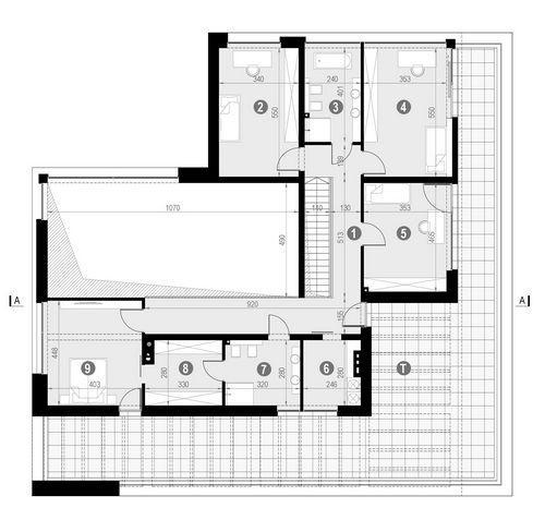 Rzut piętra POW. 230,5 m²