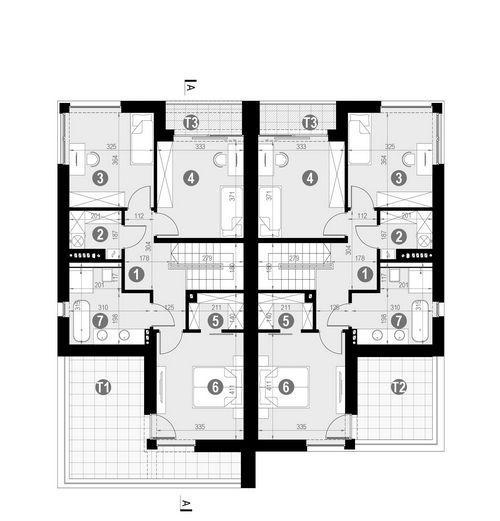Rzut piętra POW. 91,4 m²