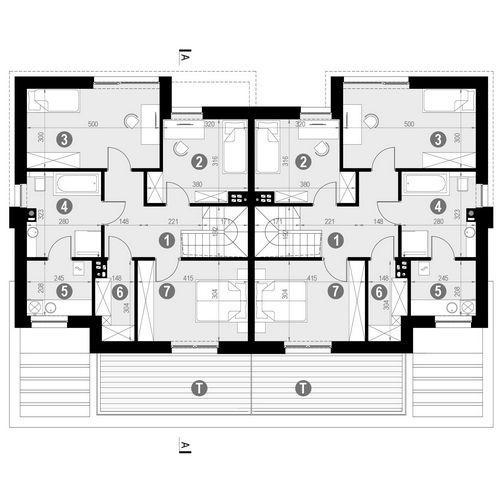 Rzut piętra POW. 79,3 m²