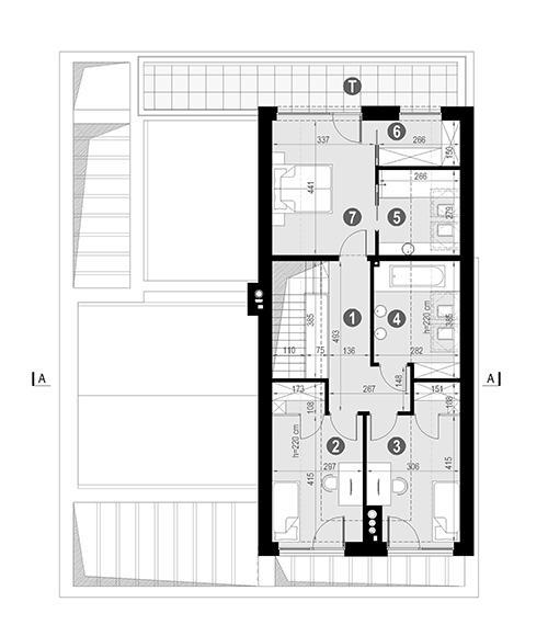 Rzut poddasza POW. 91,2 m²
