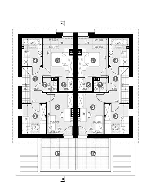 Rzut poddasza POW. 69,7 m²