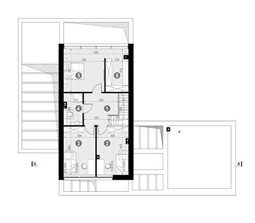 Rzut poddasza POW. 70,1 m²