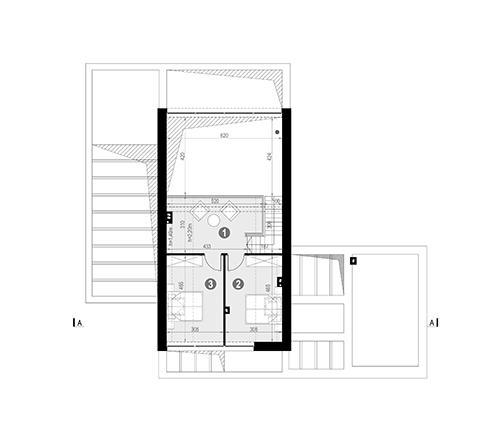 Rzut poddasza POW. 46,1 m²
