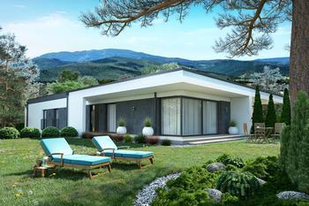 Projekt domu Ka101 P (podpiwniczony, dwulokalowy / bliźniak)