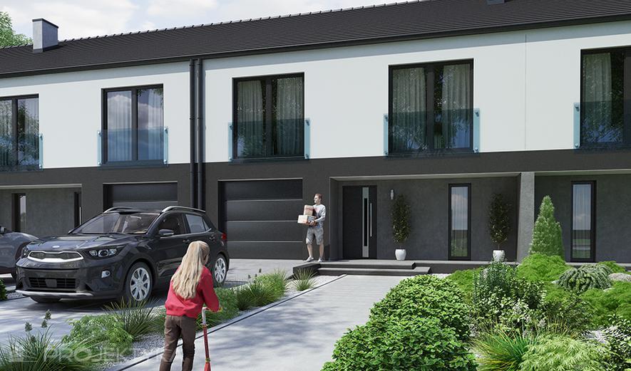 Ka125 Projekt domu Ka125  (dwulokalowy / bliźniak)