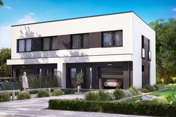 Projekt domu Ka12 (dwulokalowy / bliźniak)